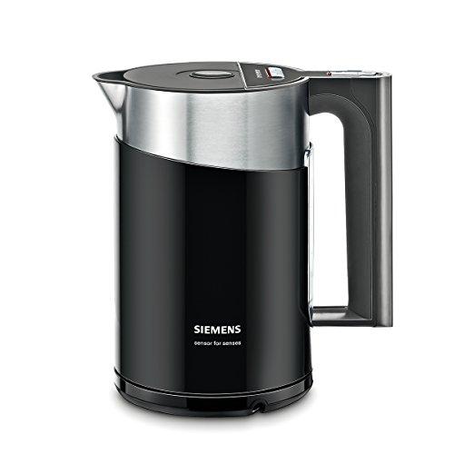 Siemens TW86103P Wasserkocher, 2400 W Überhitzungsschutz, Fassungsvermögen 1,5 L, schwarz/anthrazit