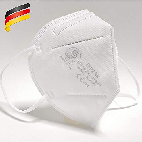 SENTIAS GERMAN CARE Sentias FFP2 Atemschutzmaske - 10 Stück - Schutzmaske Made in Germany - FFP Maske, DE.W42