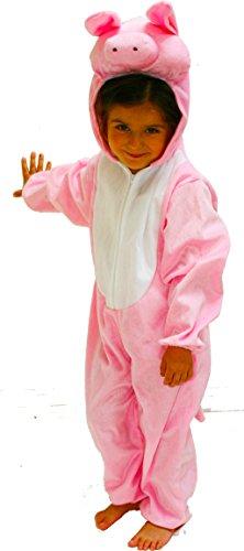 Fun Play Schweine kostüm Tier für Kinder - Kostüm Schlafanzug für Jungen und Mädchen - Kinder Kostüme...