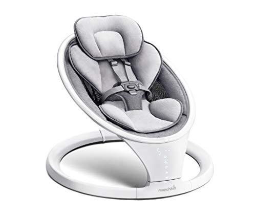 Munchkin Bluetooth-fähige, leichte Babywippe/Babyschaukel mit natürlicher Schaukelbewegung in 5...
