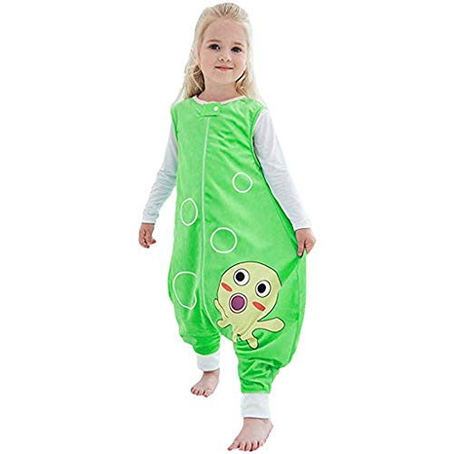 Anglewolf Unisex Kinder Mädchen Junge Einfarbiges Onesie Ärmellos Rundhals Jumpsuit Overall babySchläfsack...