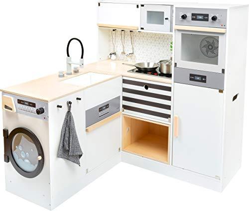 small foot 11464 Kinderküche modular XL aus Holz, multifunktionelle Spielküche mit verschiedenen...