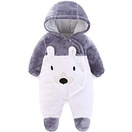 Baby Overall Winter Strampler Neugeborene Jungen Mädchen Spielanzug Warmer Schlafanzug Fleece Schneeanzug...