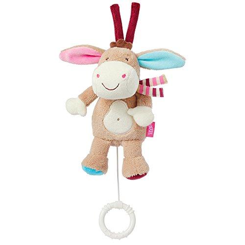 Fehn 081619 Mini-Spieluhr Esel – Kuscheltier mit integriertem Spielwerk mit sanfter Melodie zum Aufhängen...