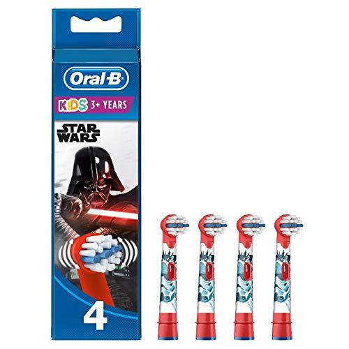 Oral-B Kids Star Wars Aufsteckbürsten für Kinder ab 3 Jahren, 4 Stück