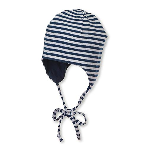 Sterntaler Wende-Mütze mit Bindebändern, Alter: 5-6 Monate, Größe: 43, Blau (Marine)