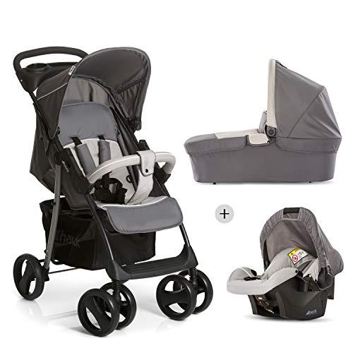 Hauck Shopper SLX Trio Set 3 in 1 Kinderwagen bis 25 kg + Babyschale + Babywanne mit Matratze ab Geburt, Buggy...