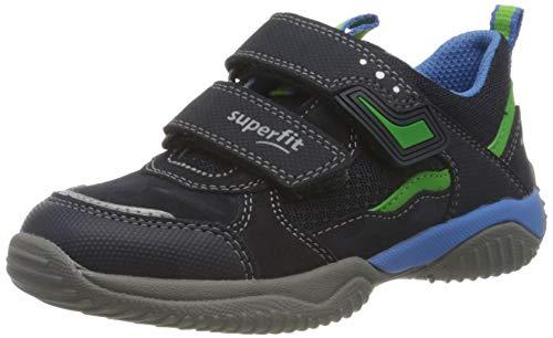 Superfit Jungen STORM Sneaker, BLAU/GRÜN 8010, 35 EU