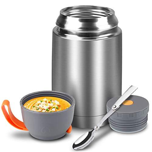 iKALULA Thermobehälter, Thermobehälter für Essen 650ml Edelstahl Speisebehälter Babybrei Isolierbehälter...