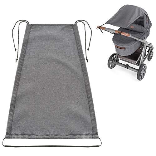 Zamboo Universal Sonnensegel DELUXE für Kinderwagen Babywanne - reißfester Sonnenschutz mit UV Schutz...