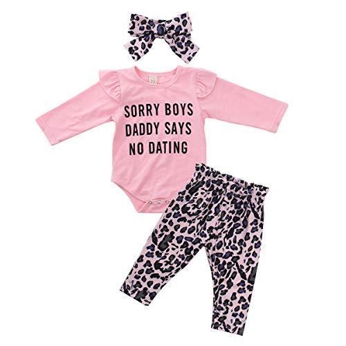 Geagodelia 3tlg Babykleidung Set Baby Mädchen Kleidung Outfit T-Shirt Top/Body + Hose/Shorts Neugeborene...