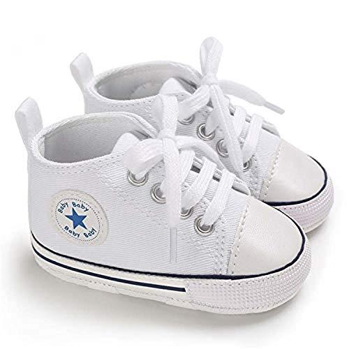 Leinwand Babyschuhe Star Soft Sole Sneaker für Neugeborene Jungen und Mädchen Erste Laufschuhe Unisex...