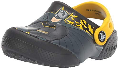 Crocs Unisex-Kinder Crocsfl Iconic Batman K Clogs, Schwarz (Black 001), 30/31 EU