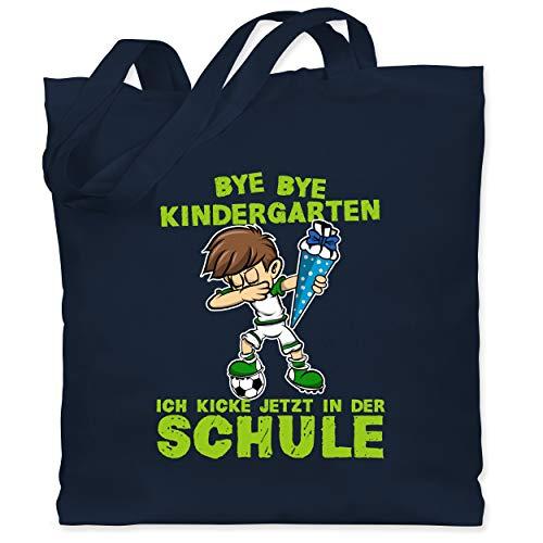 Einschulung und Schulanfang - Bye Bye Kindergarten ich kicke jetzt in der Schule Dabbing Junge Fußball...