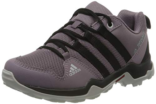 adidas Terrex AX2R Walking Shoe, Tech Purple/Core Black/Shock Red, 30 EU