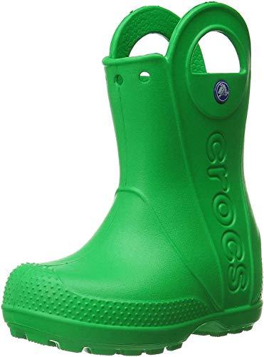Crocs Handle It Rain Boot, Unisex - Kinder Gummistiefel, Grün (Grass Green), 34/35 EU