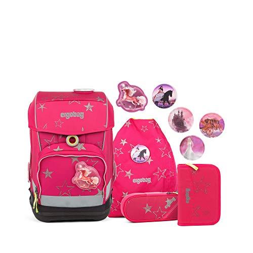 Ergobag cubo Light CinBärella, ergonomischer Schulrucksack, extra leicht, Set 5-teilig, 19 Liter, 780 g, Pink