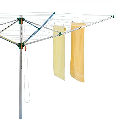 Juwel Wäschespinne Comfort Plus 600 (für 5-6 Wäscheladungen, höhenverstellbar 140-175 cm, inkl....