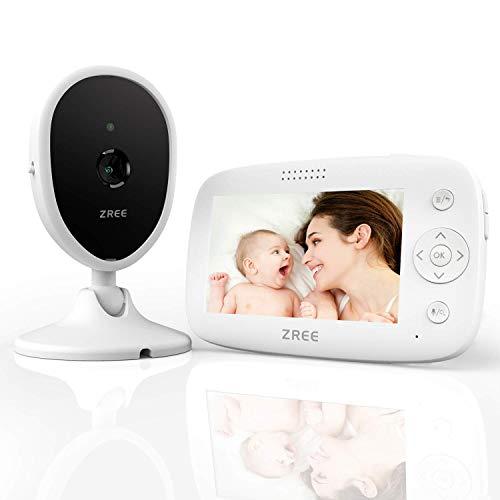 Babyphone mit Kamera, ZREE 4,3 Zoll Video...