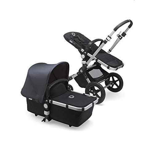 Bugaboo Cameleon 3 Plus, 2-in-1 Erstlings- und Kinderwagen, Schwarz/Steel Blue