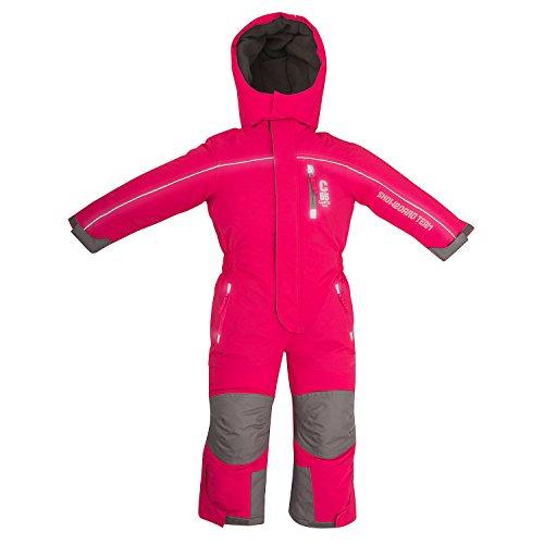 Outburst Kinder Ski Overall Pink Gr. 116 wasserdicht atmungsaktiv - Schneeanzug Skianzug