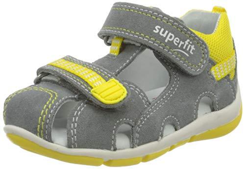 Superfit Baby Jungen FREDDY Sandalen, Grau/Gelb, 25 EU