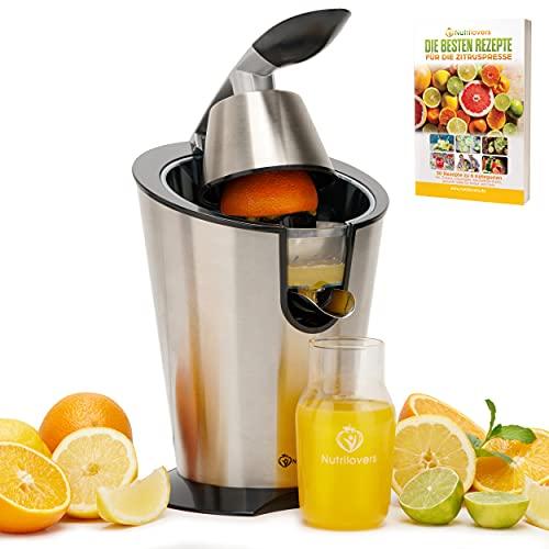 Nutrilovers CITRUS-PRESS Zitruspresse Orangenpresse Zitronenpresse elektrisch [300W] Edelstahl - 100% BPA-frei...