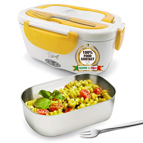 Spice Elektrische Lunch box Amarillo INOX, tragbar, Thermo Speisebehälter