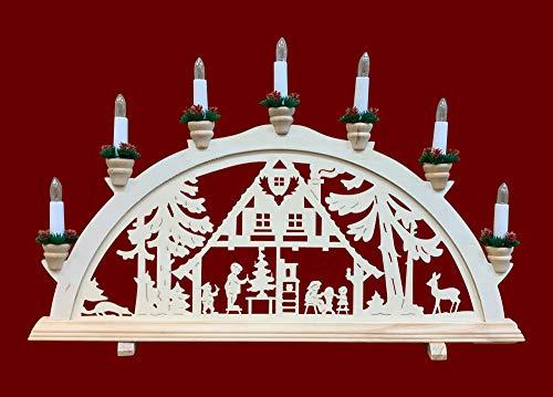 yanka-style Schwibbogen Lichterbogen Leuchter Waldhaus traditionelles Motiv 7flammig Weihnachten Advent...