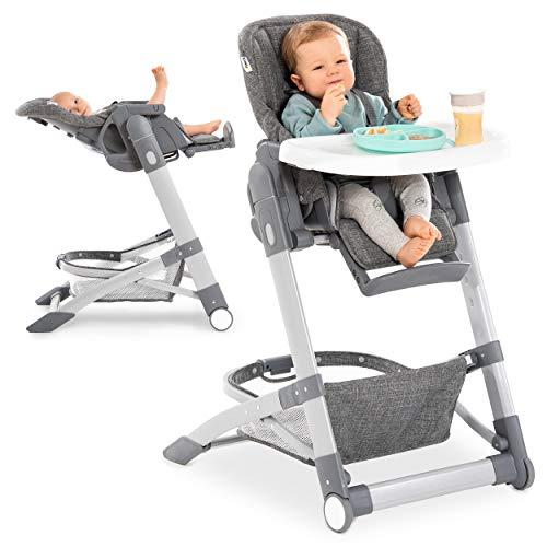 Hauck Baby-Hochstuhl Grow Up mit Liegefunktion ab Geburt - mit Tisch, Rollen, klappbar, mitwachsend und...