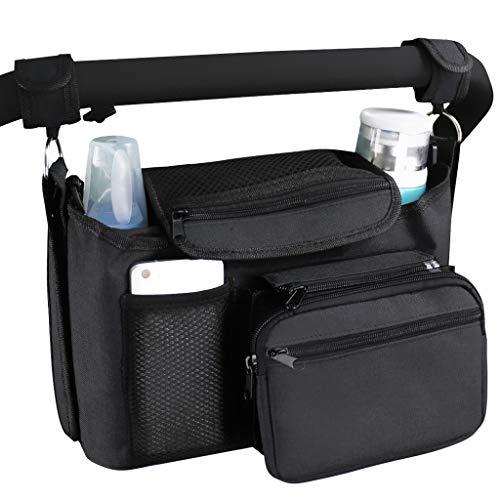 Kinderwagen-Organizer, Zubehör für Kinderwagen, mit Getränkehaltern, Multi-Pocket-Design, besonders großer...