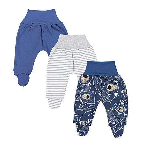 TupTam Baby Jungen Strampelhose mit Fuß 3er Pack, Farbe: Farbenmix 5, Größe: 62
