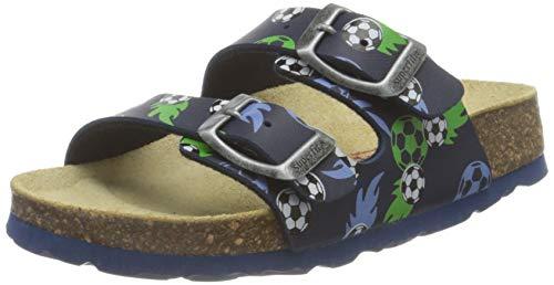 Superfit Fussbettpantoffel Hausschuh Pantoffeln, BLAU 8020, 32 EU