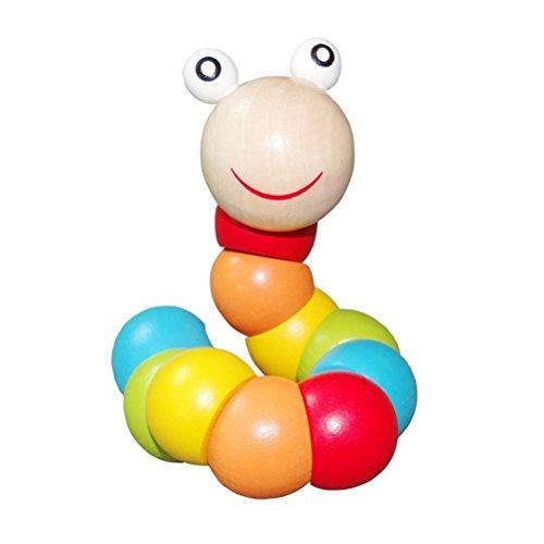 PAMRAY Twist Wurm Spielzeug Kleinkinder Baby Verwandeln Korn Blöcke Zählen Toys Farbe Erkenne Holzspielzeug...