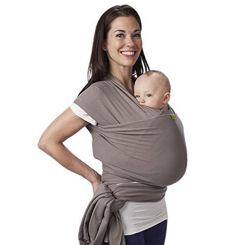 Boba Baby Wrap, Grey - das elastische Tragetuch aus weichem Sommersweat, sehr einfach zu binden, ideal für...