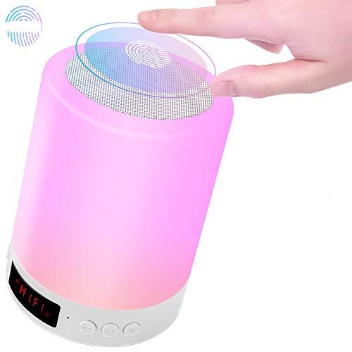 Nachttischlampe touch, wiederaufladbarer USB-LED-Nachtlicht-Bluetooth-Lautsprecher, tragbare dimmbare...