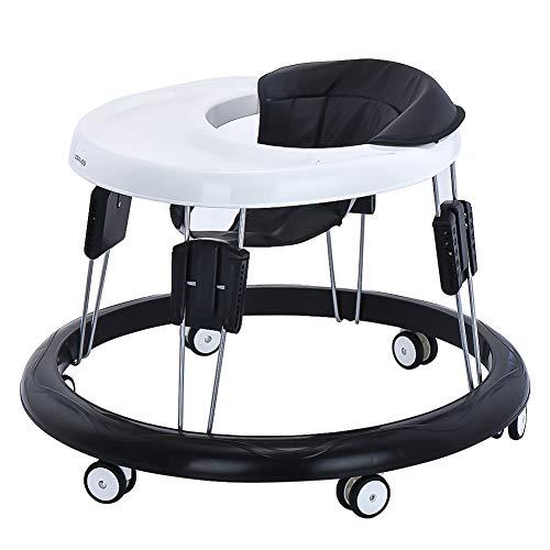 Baby Lauflernhilfe, Baby Gehfrei Justierbar mit Leicht zu Reinigendes Tablett, 9 Höheneinstellung und 6...