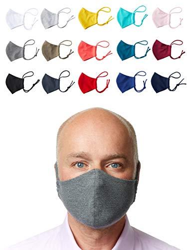 Enter the Complex® Mund und Nasenmaske mit Filterfach, Waschbar bei 60 Grad, Jersey Gesichtsmaske aus...