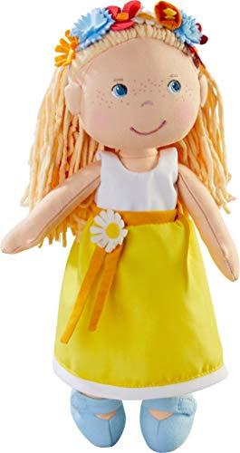 HABA Puppe Wiebke: Stoffpuppe zum Spielen und Kuscheln für Kleinkinder ab 18 Monaten