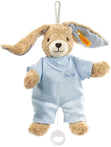 Steiff 237515 Hoppel Spieluhr 20 blau Hase