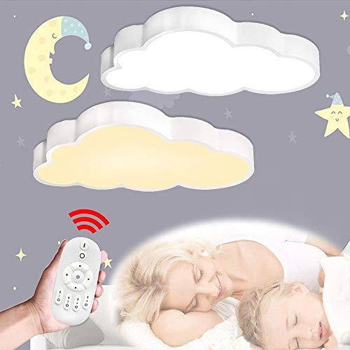 LeMeiZhiJia 48W LED Wolken Deckenlampe - Ultra-dünne 5cm Kreative Deckenleuchte für Schlafzimmer Küche...