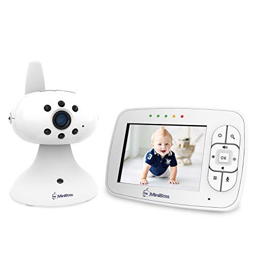 MiniBoss Babyphone mit Kamera 3.5' LCD Wireless Video Baby Monitor für Nachtsicht Temperaturüberwachung...
