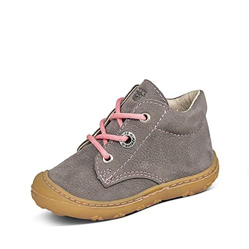 RICOSTA 74-122100 Cory Babymädchen Lauflernschuh Nubukleder federleicht Uni, Groesse 20, grau/rosa