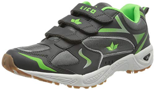 Lico Bob V Unisex Kinder Multisport Indoor Schuhe, Grau/ Lemon, 38 EU