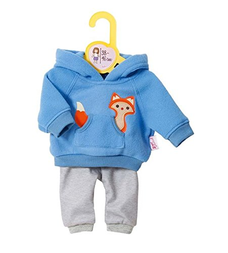 Zapf Creation 870136 Dolly Moda Sport-Outfit Blau, Puppenkleidung 39-46 cm