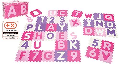 Playshoes 308746 – Puzzlematte für Babys und Kinder, Buchstaben und Zahlen, Spielmatte Spielteppich,...