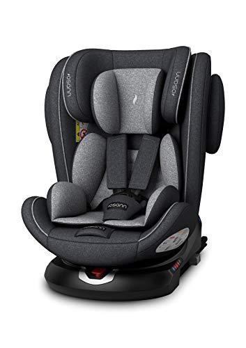 Osann ENO360° Kinderautositz Gruppe 0+/1/2/3 (0-36 Kg) Dark Grey Melange