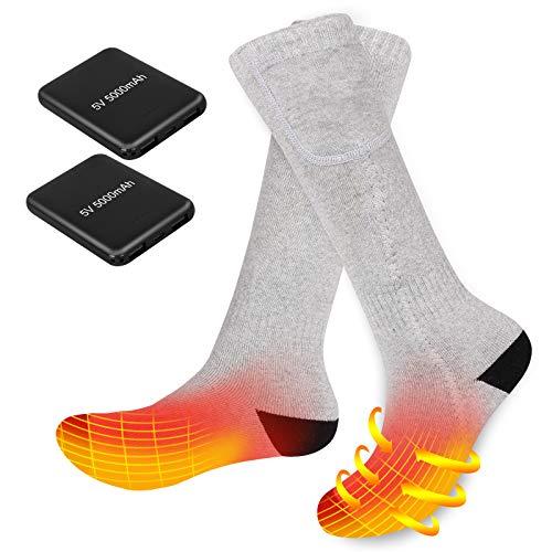 Elektrisch Beheizbare Socken für Männer Frauen Wiederaufladbare Batterie Heizsocken Winterthermosocke zum...