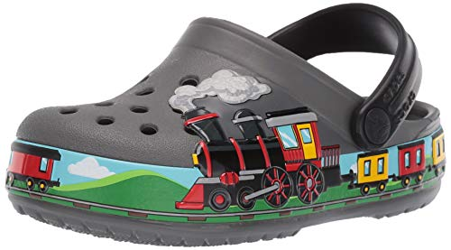 Crocs Unisex-Kinder Crocsfl Train Band K Clogs, Grau (Slate Grey 0da), 30/31 EU