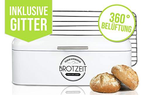 LOFTASTIC® Brotkasten Set inkl. Lüftungsgitter aus Edelstahl I Hochwertige Metall Brotbox in verschiedenen...